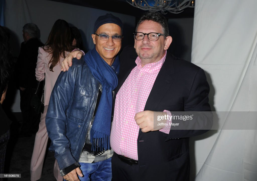<a gi-track='captionPersonalityLinkClicked' href=/galleries/search?phrase=Jimmy+Iovine&family=editorial&specificpeople=850753 ng-click='$event.stopPropagation()'>Jimmy Iovine</a> and Lucian Grainge, Chairman & CEO of Universal Music Group attend the Universal Music Group Chairman & CEO Lucian Grainge's annual Grammy Awards viewing party on February 10, 2013 in Brentwood, California.