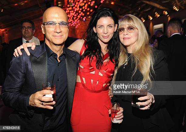 Jimmy Iovine Liberty Ross and Stevie Nicks attend the 2014 Vanity Fair Oscar Party Hosted By Graydon Carter on March 2 2014 in West Hollywood...