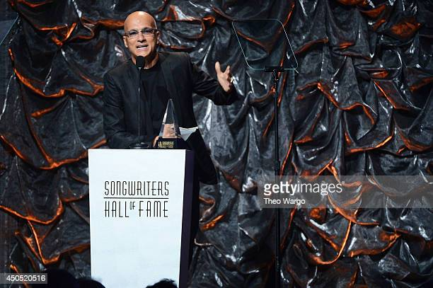 Jimmy Iovine speaks onstage at the Songwriters Hall of Fame 45th Annual Induction and Awards at Marriott Marquis Theater on June 12 2014 in New York...