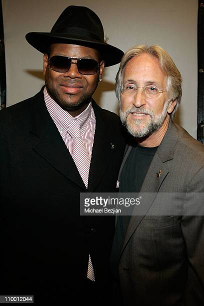 Jimmy Jam and president of the recording academy Neil Portnow backstage at The Thelonious Monk Institute of Jazz and The Recording Academy Los...