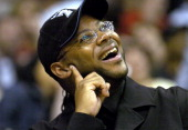 Jimmy Jam at Los Angeles Lakers game against the Minnesota Timberwolves at the Staples Center on Friday March 26 2004