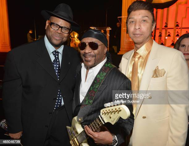 Jimmy Jam Ernie Isley and Chris Jasper attend the Special Merit Awards Ceremony as part of the 56th GRAMMY Awards on January 25 2014 in Los Angeles...