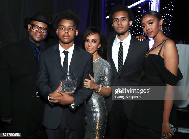 Jimmy Jam honoree Max Harris Lisa Harris Tyler Harris and Bella Harris attend JDRF LA's IMAGINE Gala to benefit type 1 diabetes research at The...