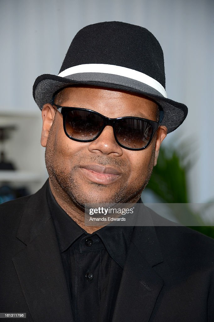 Jimmy Jam in Tommy Hilfiger 1985 sunglasses poses with SOLSTICE Sunglasses and Safilo USA during the 55th Annual GRAMMY Awards at the STAPLES Center on February 9, 2013 in Los Angeles, California.