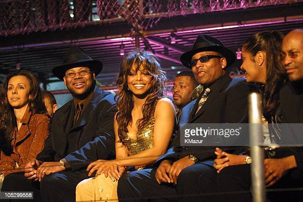 Jimmy Jam Janet Jackson and Terry Lewis during 'MTV Icon Janet Jackson' at Sony Studios in Culver City California United States
