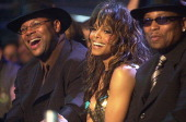 Jimmy Jam Janet Jackson Terry Lewis during MTV Icon Tribute to Janet Jackson in Los Angeles California United States