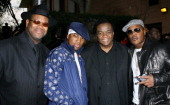 Jimmy Jam NeYo Lamont Dozier and Sean Garrett during GRAMMY Career Day Presented by Gibson Foundation at University of Southern California in Los...