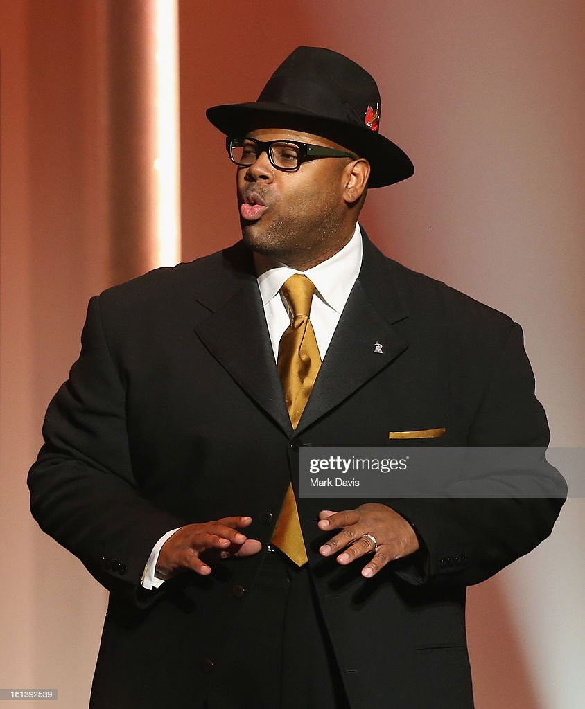 Jimmy Jam speaks onstage during the 55th Annual GRAMMY Awards Pre-Telecast at Nokia Theatre L.A. Live on February 10, 2013 in Los Angeles, California.