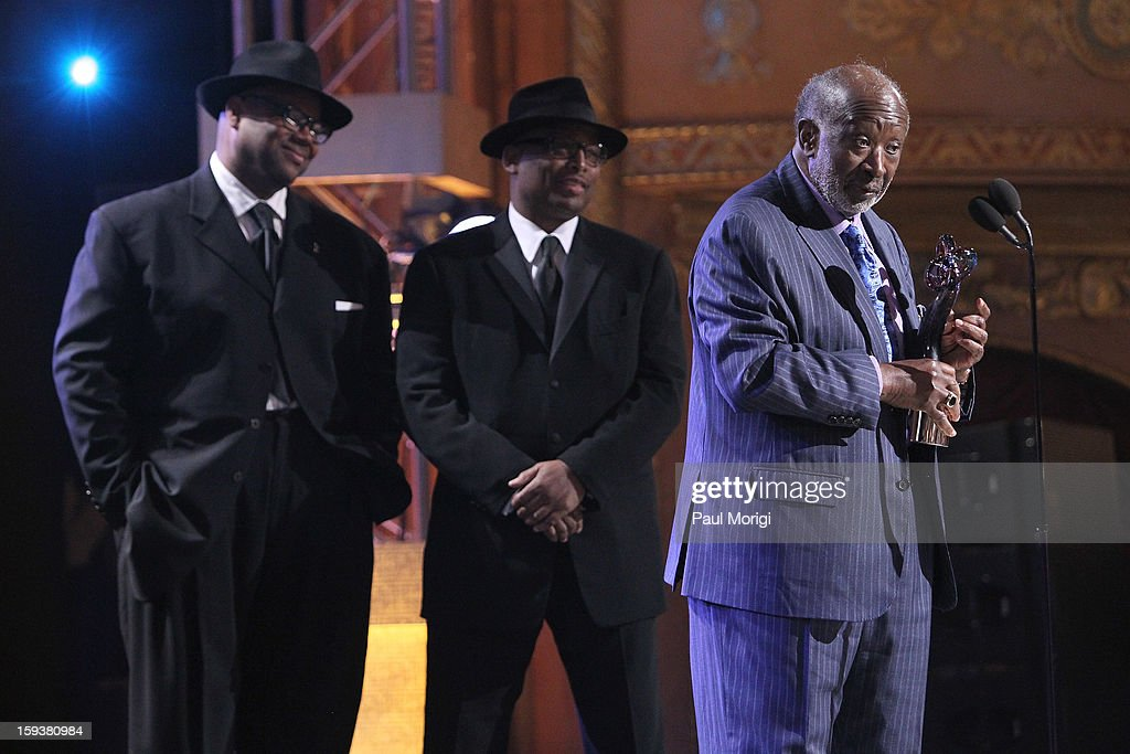 Jimmy Jam, Terry Lewis and Clarence Avant onstage at BET Honors 2013 at Warner Theatre on January 12, 2013 in Washington, DC.