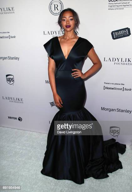 Jimmy Jam's daughter model Bella Harris attends the Ladylike Foundation's 9th Annual Women of Excellence Awards gala at The Beverly Hilton Hotel on...