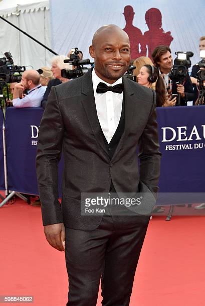 Jimmy Jean Louis attends the 'Infiltrator' Deauville Premiere as part of 42nd Deauville American Film Festival Opening Ceremony at the CID on...