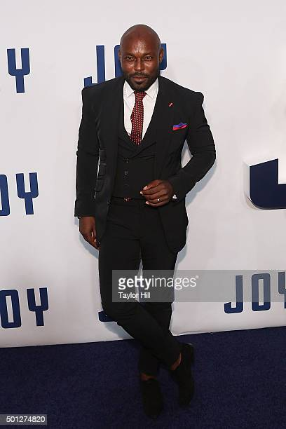 Jimmy Jean Louis attends the 'Joy' premiere at Ziegfeld Theater on December 13 2015 in New York City