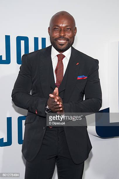 Jimmy JeanLouis attends the 'Joy' New York premiere at the Ziegfeld Theater on December 13 2015 in New York City