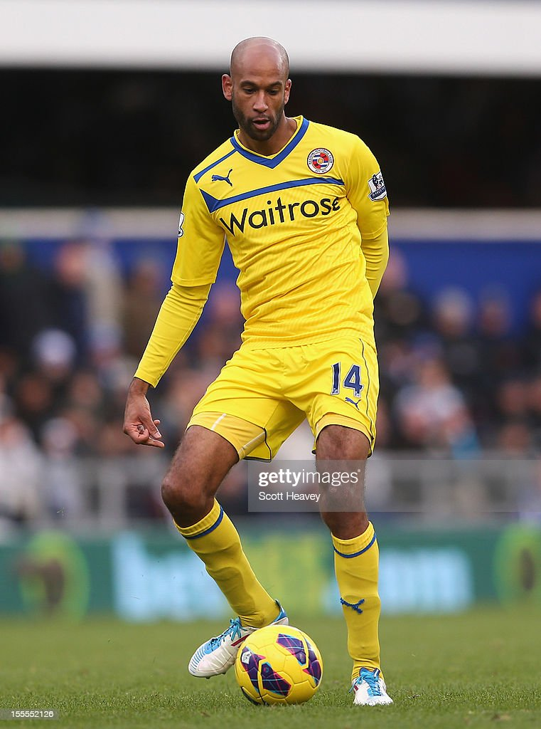Jimmy Kebe of Reading in action during the Barclays Premier League match between Queens Park Rangers and Reading at Loftus Road on November 4, 2012 in London, England.