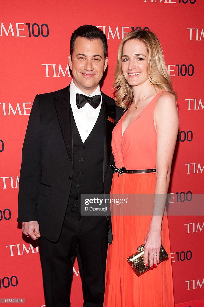 Jimmy Kimmel (L) and Molly McNearney attend the 2013 Time 100 Gala at Frederick P. Rose Hall, Jazz at Lincoln Center on April 23, 2013 in New York City.