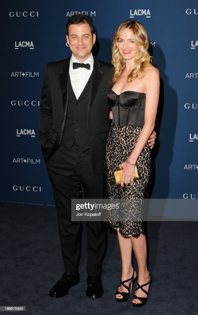 <a gi-track='captionPersonalityLinkClicked' href=/galleries/search?phrase=Jimmy+Kimmel&family=editorial&specificpeople=214115 ng-click='$event.stopPropagation()'>Jimmy Kimmel</a> and wife Molly McNearney arrives at LACMA 2013 Art + Film Gala at LACMA on November 2, 2013 in Los Angeles, California.