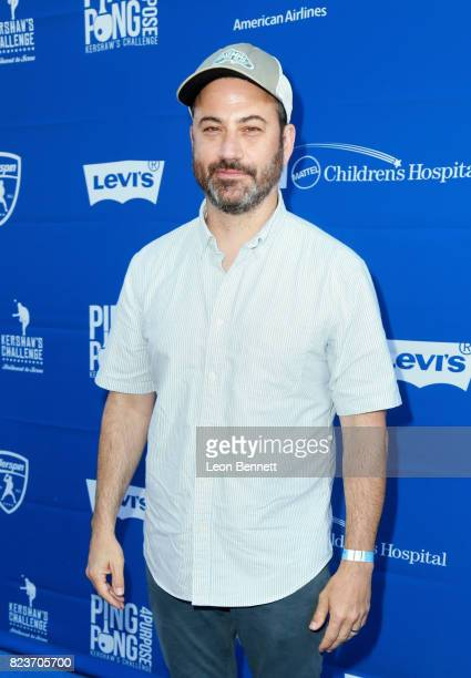 Jimmy Kimmel at Clayton Kershaw's 5th Annual Ping Pong 4 Purpose Celebrity Tournament at Dodger Stadium on July 27 2017 in Los Angeles California