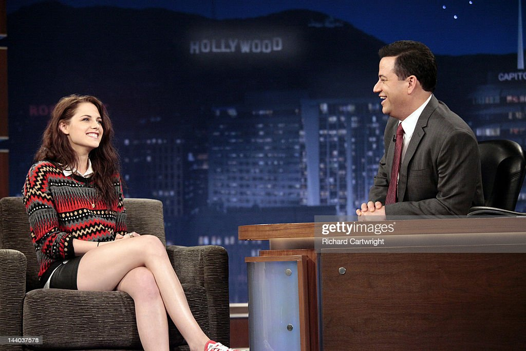 LIVE - 'Jimmy Kimmel Live' airs every weeknight, (12:00 - 1:06 a.m., ET), following 'Nightline,' featuring a diverse lineup of guests that include celebrities, athletes, musical acts, comedians and human interest subjects, along with comedy bits and a house band. The guests for MONDAY, MAY 7 included actress Kristen Stewart ('Snow White and the Huntsman'), actress Chloe Moretz ('Dark Shadows') and musical guest B