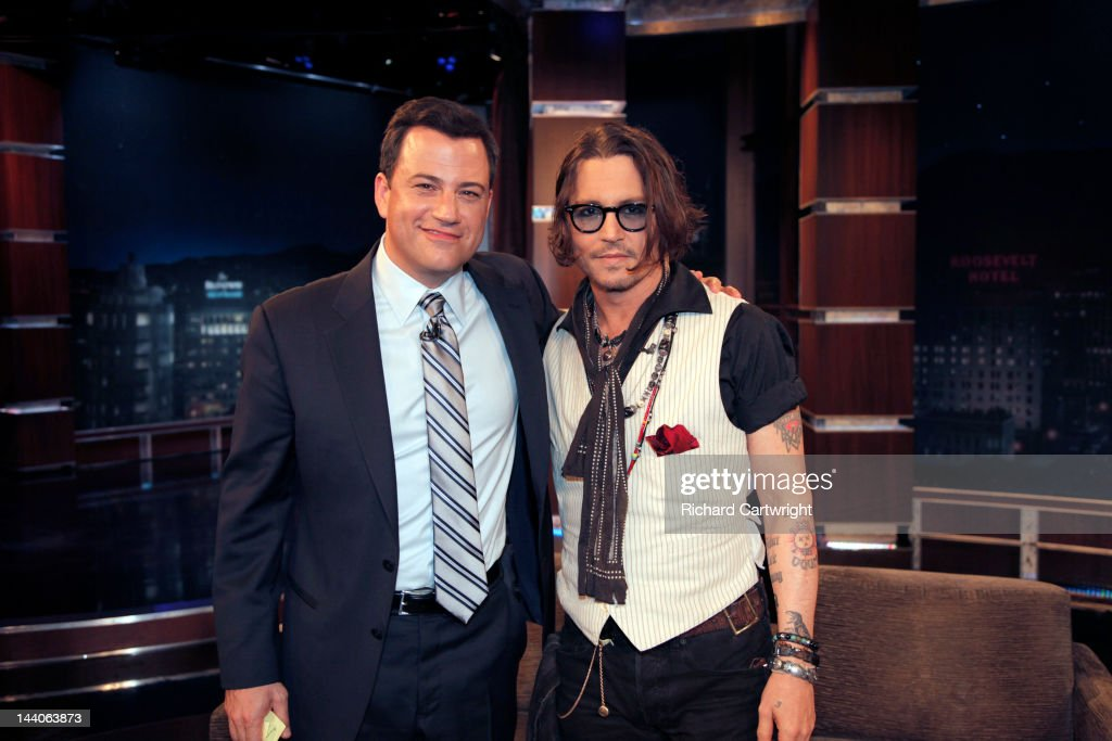 LIVE - 'Jimmy Kimmel Live' airs every weeknight, (12:00 - 1:06 a.m., ET), following 'Nightline,' packed with hilarious comedy bits and features a diverse lineup of guests including celebrities, athletes, musicians, comedians and humorous human interest subjects. The guests for TUESDAY, MAY 8 included actor Johnny Depp ('Dark Shadows'), actress Casey Wilson ('Happy Endings') and musical guests Silversun Pickups. JIMMY