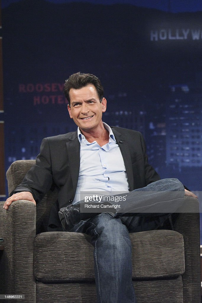 LIVE - 'Jimmy Kimmel Live' airs every weeknight, (12:00 - 1:06 a.m., ET), following 'Nightline,' packed with hilarious comedy bits and features a diverse lineup of guests including celebrities, athletes, musicians, comedians and humorous human interest subjects. The guests for THURSDAY, JULY 19 included actor Charlie Sheen ('Anger Management'), reality star Nicole 'Snooki' Polizzi ('Snooki & JWOWW') and musical guest Huey Lewis & Joe Cocker. CHARLIE