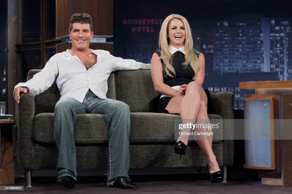 LIVE - 'Jimmy Kimmel Live' airs every weeknight, (12:00 - 1:06 a.m., ET), following 'Nightline,' packed with hilarious comedy bits and features a diverse lineup of guests including celebrities, athletes, musicians, comedians and humorous human interest subjects. The guests for WEDNESDAY, SEPTEMBER 12 included Britney Spears and Simon Cowell ('The X Factor') and musical guest Slightly Stoopid. SPEARS