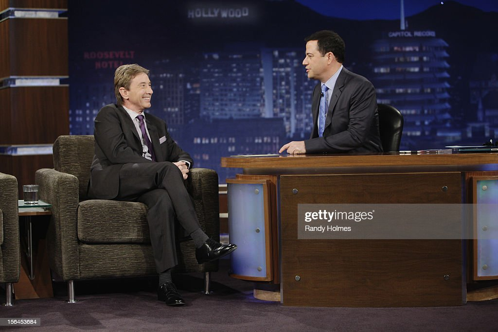 LIVE - 'Jimmy Kimmel Live' airs every weeknight, (12:00 - 1:06 a.m., ET), following 'Nightline,' packed with hilarious comedy bits and features a diverse lineup of guests including celebrities, athletes, musicians, comedians and humorous human interest subjects. The guests for WEDNESDAY, NOVEMBER 14 included comedian Martin Short, actor Suraj Sharma ('Life of Pi') and musical guest Ne-Yo. MARTIN