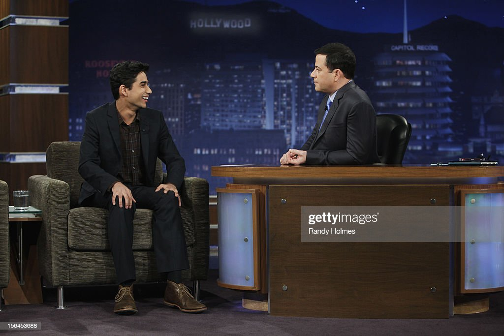 LIVE - 'Jimmy Kimmel Live' airs every weeknight, (12:00 - 1:06 a.m., ET), following 'Nightline,' packed with hilarious comedy bits and features a diverse lineup of guests including celebrities, athletes, musicians, comedians and humorous human interest subjects. The guests for WEDNESDAY, NOVEMBER 14 included comedian Martin Short, actor Suraj Sharma ('Life of Pi') and musical guest Ne-Yo. SURAJ