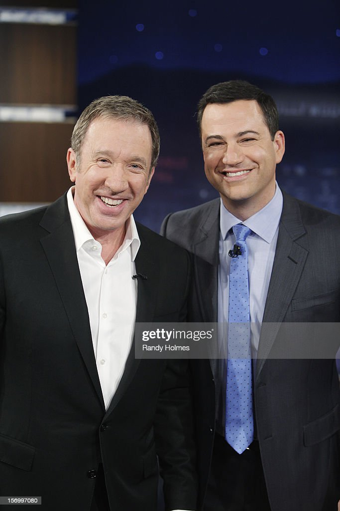 LIVE - 'Jimmy Kimmel Live' airs every weeknight, (12:00 - 1:06 a.m., ET), following 'Nightline,' packed with hilarious comedy bits and features a diverse lineup of guests including celebrities, athletes, musicians, comedians and humorous human interest subjects. The guests for WEDNESDAY, NOVEMBER 21 included Tim Allen ('Last Man Standing') and Manny Pacquiao (PACQUIAO-MÁRQUEZ 4, Saturday, December 8th at MGM Grand in Las Vegas.). TIM