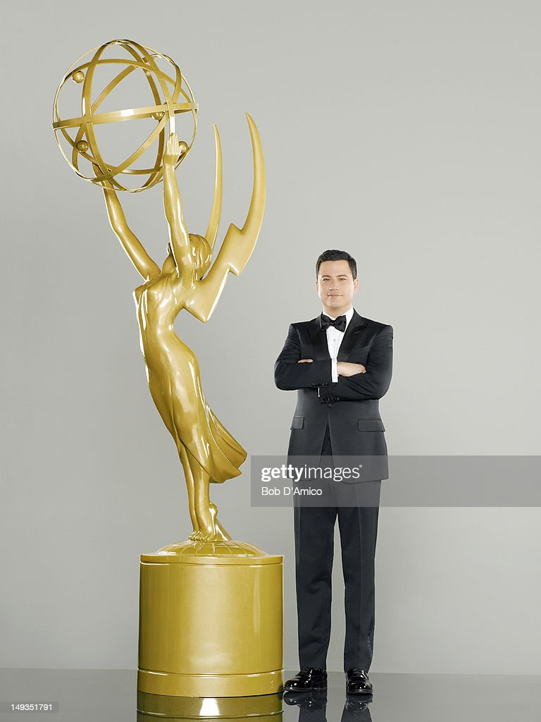 AWARDS - Jimmy Kimmel, star and executive producer of the late-night ABC talk show 'Jimmy Kimmel Live,' will host the 64th Primetime Emmy Awards, broadcast live coast to coast, Sunday, September 23, 2012 exclusively on ABC. The festivities begin with 'Emmys Red Carpet Live' from 7:00-8:00 p.m., ET/4:00-5:00 p.m., PT, immediately followed by the award ceremonies, live from 8:00-11:00 p.m., ET/5:00-8:00 p.m., PT.