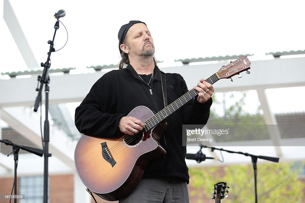 <a gi-track='captionPersonalityLinkClicked' href=/galleries/search?phrase=Jimmy+LaFave&family=editorial&specificpeople=7694567 ng-click='$event.stopPropagation()'>Jimmy LaFave</a> performs during the opening ceremony for the Woody Guthrie Center on April 27, 2013 in Tulsa, Oklahoma.