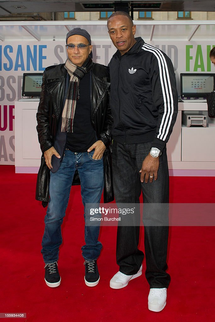Jimmy Lovine and Dr Dre attend the Beats By Dr Dre: Show Your Colours photocall at Covent Garden on November 9, 2012 in London, England.