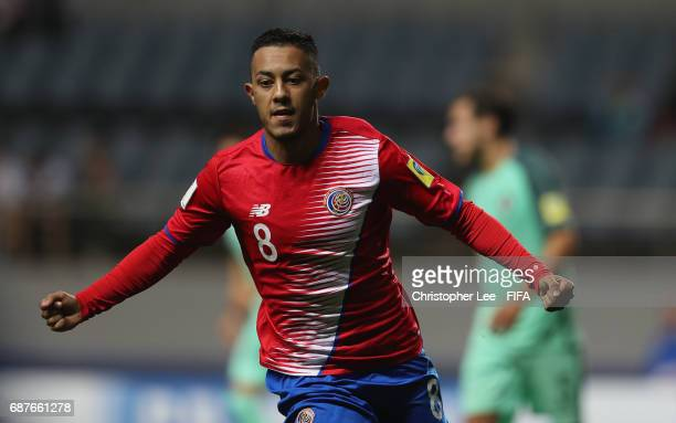 Jimmy Marin of Costa Rica celebrates scoring their first goal during the FIFA U20 World Cup Korea Republic 2017 group C match between Costa Rica and...
