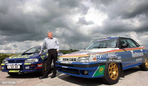 Jimmy McRae with the Subaru Impreza cars driven by his son former World Rally Champion Colin McRae which are due to be loaned to the new Riverside...