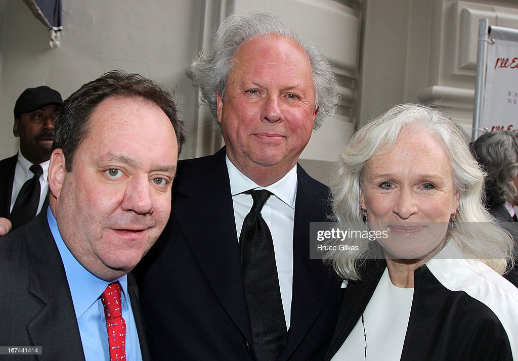 Jimmy Nederlander, Graydon Carter, Glenn Close attend the 'I'll Eat You Last: A Chat With Sue Mengers' Broadway opening night at The Booth Theater on April 24, 2013 in New York City.