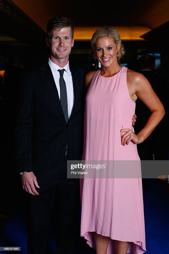 <a gi-track='captionPersonalityLinkClicked' href=/galleries/search?phrase=Jimmy+Neesham&family=editorial&specificpeople=6680337 ng-click='$event.stopPropagation()'>Jimmy Neesham</a> and Alex MacLeod-Smith arrive for the New Zealand Cricket Awards at the Langham Hotel on April 1, 2015 in Auckland, New Zealand.
