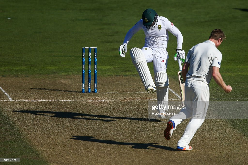 New Zealand v South Africa - 2nd Test: Day 2