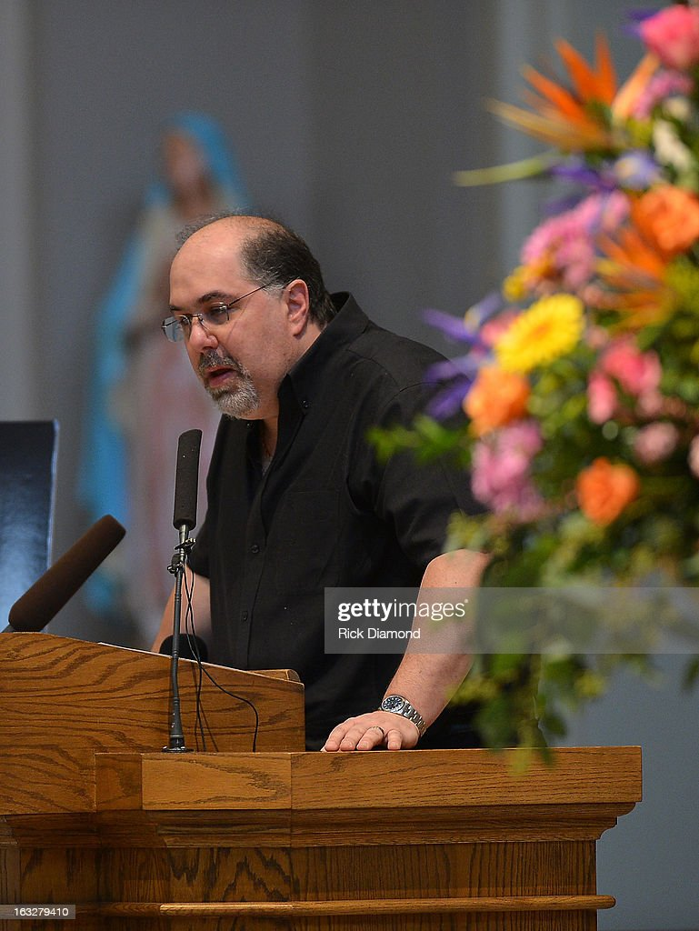 Jimmy Nichols - Producer speaks during the memorial service for Mindy McCready at Cathedral of the Incarnation on March 6, 2013 in Nashville, Tennessee. McCready was found dead from an apparent suicide on February 17, 2013 at her home in Heber Springs, Arkansas.