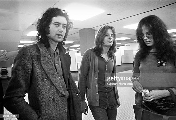 Jimmy Page and John Paul Jones of Led Zeppelin posed at Rai in Amsterdam Netherlands on May 27 1972