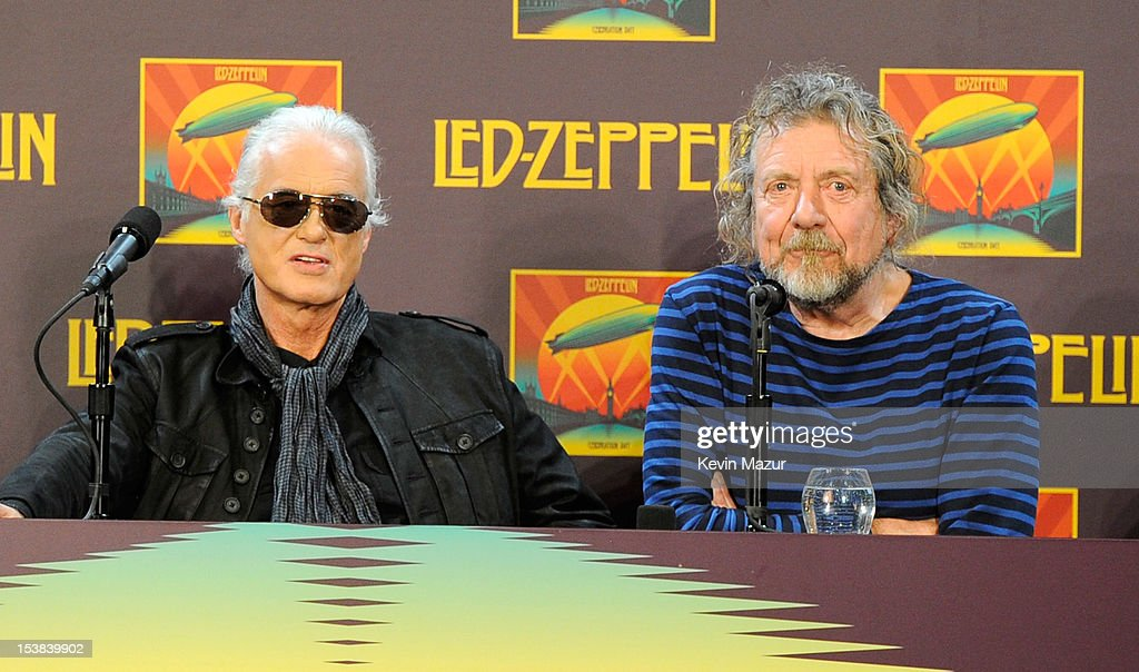 <a gi-track='captionPersonalityLinkClicked' href=/galleries/search?phrase=Jimmy+Page&family=editorial&specificpeople=208663 ng-click='$event.stopPropagation()'>Jimmy Page</a> and <a gi-track='captionPersonalityLinkClicked' href=/galleries/search?phrase=Robert+Plant&family=editorial&specificpeople=211368 ng-click='$event.stopPropagation()'>Robert Plant</a> attend Led Zeppelin Celebration Day Press Conference on October 9, 2012 in New York City. (Photo by Kevin Mazur/Getty Images) Led Zeppelin's John Paul Jones, <a gi-track='captionPersonalityLinkClicked' href=/galleries/search?phrase=Jimmy+Page&family=editorial&specificpeople=208663 ng-click='$event.stopPropagation()'>Jimmy Page</a> and <a gi-track='captionPersonalityLinkClicked' href=/galleries/search?phrase=Robert+Plant&family=editorial&specificpeople=211368 ng-click='$event.stopPropagation()'>Robert Plant</a> joined by Jason Bonham discuss concert film, Celebration Day, in New York City at Museum of Modern Art. Celebration Day captures their 2007 tribute concert for Atlantic Records Founder Ahmet Ertegun at London's O2 Arena. Film will be released worldwide on October 17, 2012 by Omniverse Vision on 1,500 screens in over 40 territories, it will then be available in multiple video and audio formats on November 19, 2012.