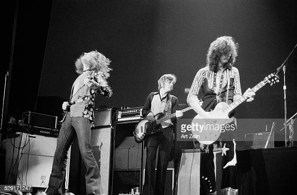 Jimmy Page and Robert Plant of Led Zeppelin in performance at Madison Square Garden 1972