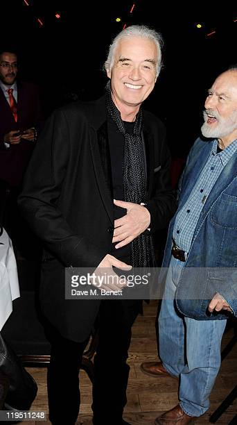 Jimmy Page arrives at the Glenfiddich Mojo Honours List 2011 awards ceremony at The Brewery on July 21 2011 in London England