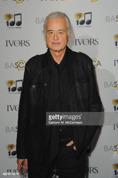 Jimmy Page attends the Ivor Novello Awards at The Grosvenor House Hotel on May 22 2014 in London England