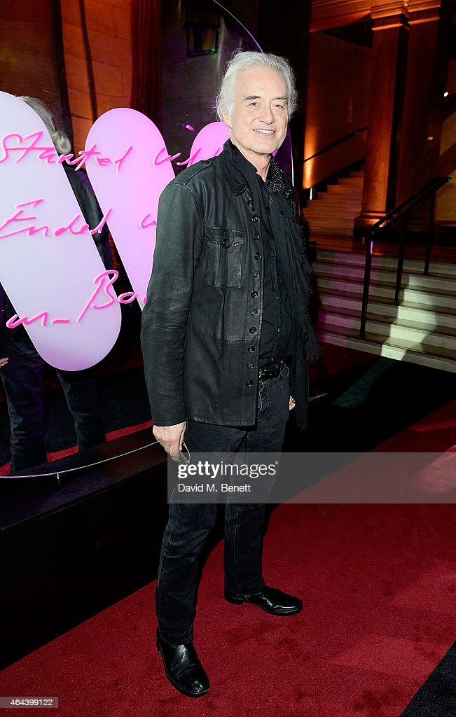 Jimmy Page attends The Warner Music Brit Party 2015 at Freemasons Hall on February 25, 2015 in London, England.