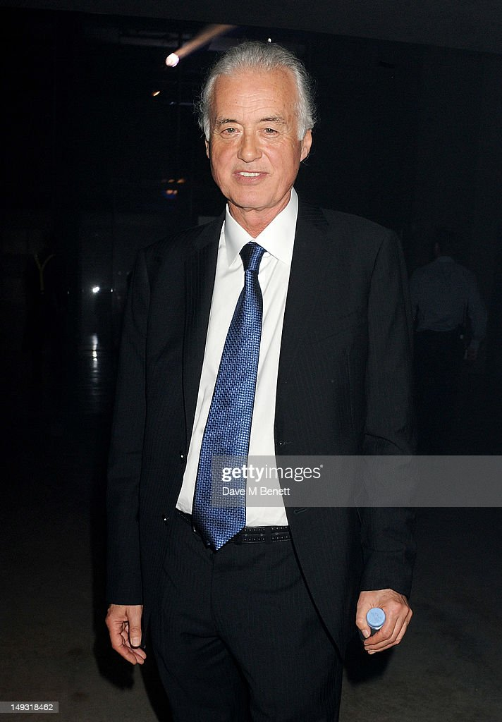 Jimmy Page attends the Warner Music Group Pre-Olympics Party in the Southern Tanks Gallery at the Tate Modern on July 26, 2012 in London, England