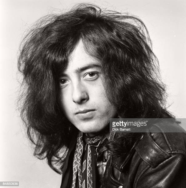 Photo of Jimmy Page guitarist with LED ZEPPELIN posed in London in December 1968