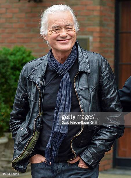 Jimmy Page is seen on May 15 2014 in New York City