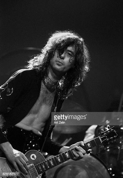 Jimmy Page of Led Zeppelin in concert circa 1970 New York