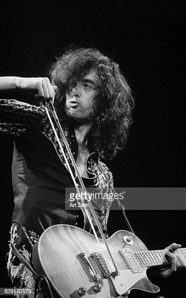 Jimmy Page of Led Zeppelin in performance at Madison Square Garden 1972