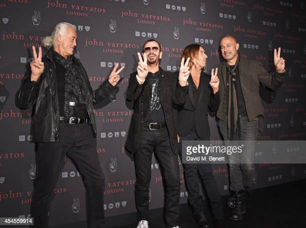 Jimmy Page Ringo Starr Iggy Pop and John Varvatos attend as John Varvatos launch their first European store in London on September 3 2014 in London...
