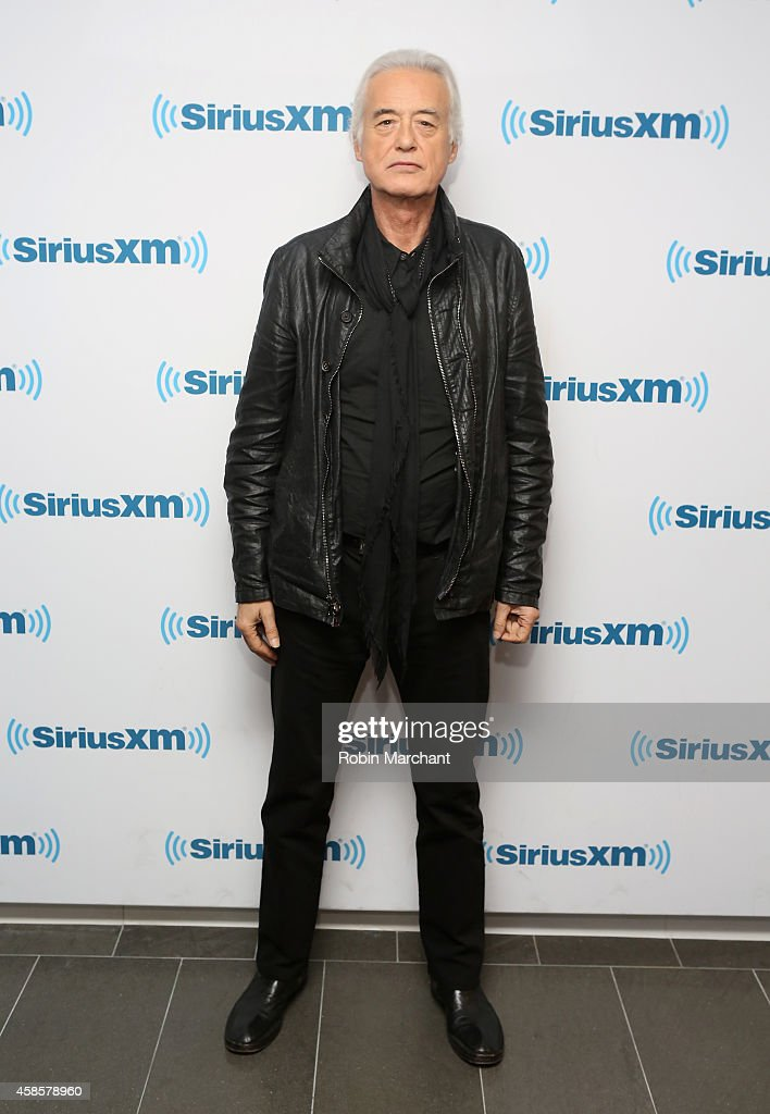 Jimmy Page visits at SiriusXM Studios on November 7, 2014 in New York City.